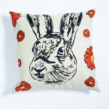 GILLIE AND MARC-direct from the artists-authentic art home wares cushion rabbit