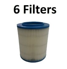 6 Filter for Craftsman 17816 Wet Dry Vac Red Stripe Fine Dust Ridgid Replacement