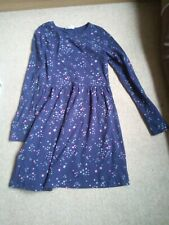 === GIRLS PRETTY BLUE STARS DRESS AGE 9 ===
