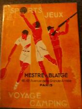 important catalogue  sport  1930  mestre blatgé   peche armes golf camping ...