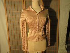 VINTAGE; JACKET Silk; Woman; GUCCI; silk stretch.Taille 38