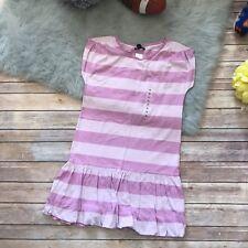 Gap Lavender Striped Dress NEW NWT 12 Preppy Girls Bubble Hem Long Waist