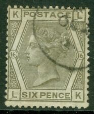 SG 147 6d Grey plate 16 very fine used with a crisp part CDS leaves Queens...