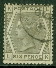 SG 147 6d Grey plate 16 very fine used with a crisp part CDS leaves queens