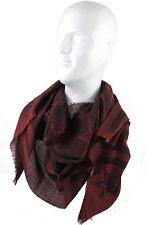 Schal Webschal Jacquard-Sterne modisch rot schwarz 100% Wolle (Merino)R-621
