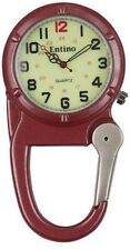 clip on carabiner fob watch red F126