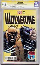 WOLVERINE #1 VARIANT CGC 9.8 SS Signed Humberto Ramos, Paul Cornell & Len Wein!!