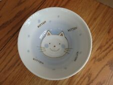 New listing Cat Bowl Hand Painted Ceramic Food Water Kitten Inside 5.75� W x 2.75� D