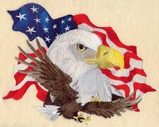 """Eagle American Flag, USA, Birds of Prey, Embroidered Patch 9.9""""x.7.7"""""""