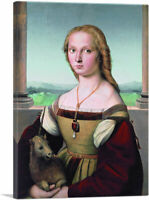 ARTCANVAS Portrait of a Lady with a Unicorn 1506 Canvas Art Print by Raphael
