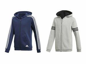 Boys Adidas Hoodie | Grey or Navy | 9-16 Years