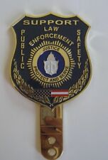 NJ PBA POLICE CAR WINDOW SHIELD BADGE WITH SUCTION CUP WINDOW MOUNT NEW JERSEY