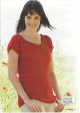 Knitting pattern ladies sleeveless DK top including extra large sizes