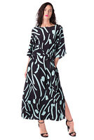DIANE VON FURSTENBERG Silk Maxi Wrap Dress Size S Patterned Tie Belt RRP €609