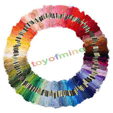 50pcs Mixed Color Cotton Embroidery Thread Cross Stitch Embroider Skein Floss