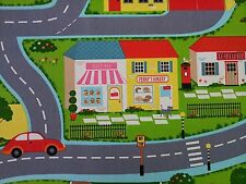 Clarke and Clarke Roadmap Multi Childrens Curtain Craft Upholstery Fabric