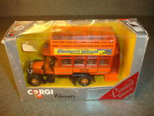 RARE Corgi Classics Ltd Edition Orange Double Decker Bus Allenburys Pastilles