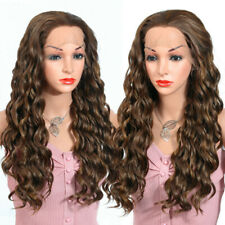 Long Wavy Blonde Color Synthetic Wigs 13X4 Lace Front Wig Curly Wigs for Women