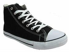 MENS LADIES TRENDY RETRO HITOP BASEBALL BOOTS TRAINERS SIZE UK 4 5 6 7 8 9 10 11