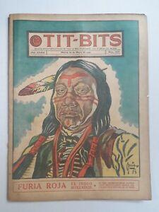 RED FURY! - TIT-BITS #1717 (1942) - ORIGINAL COMIC IN SPANISH - ARGENTINA