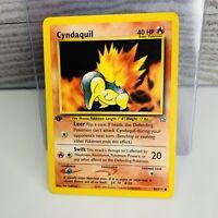 1x 1st Edition Cyndaquil 56/111 Neo Genesis Pokemon Card Very Good/EX