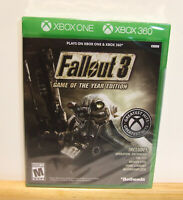 Fallout 3 Game of the Year Edition - Xbox One/Xbox 360 - New Factory Sealed
