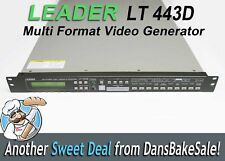 Leader LT-443D Multi Format Video Generator with 2 BL Modules and Power Supply