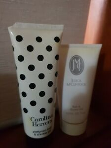 Carolina Herera 75 mls +Jessica McClintick 74 mls Perfumed Shower Gel