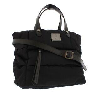 Fly London NEW Zeni black nylon quilted top handle shoulder padded bag handbag