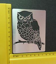 INOX / acciaio / Stencil / oblunghi / gufo / BIRD / Sbalza / SMALL