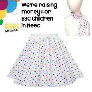 Childs GIRLS Fancy Dress CHILDREN IN NEED Pudsey SKIRTS KIDS Costume