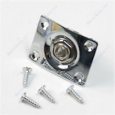 Hot Guitar Jack Plate + Output Socket Chrome Rectangle For Gibson Epiphone