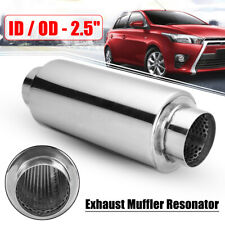 2.5'' Inlet Outlet Universal Exhaust Pipe Muffler Resonator Stainless Steel ~