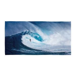 Surfer Beach Towel Blue Wave