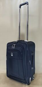"""TravelPro Crew 8 Black 20"""" Wheeled Rolling Carry On Expandable Business Suitcase"""
