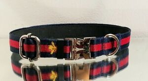 LaGucci Yellow BEE Red Navy Silver Metal buckle M 14.5-16 Necks Ret.$70 🐝