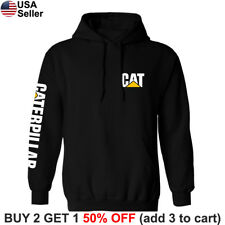 Caterpillar Hoodie Sweatshirt Sweater Shirt CAT Construction Equipment Chest