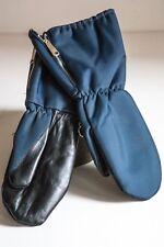Nylon Leather Work Mittens Gloves Vintage | Mens Medium | Dad Gift | Farm Mitts