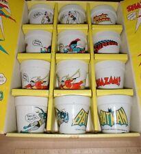 1976 comic book superhero porcelain Wonder woman Superman Batman Shazam display