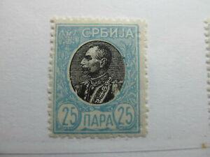Serbien Serbia 1905-11 25p Perf 11½ Fine MH* A5P18F368