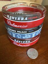 New ListingCaesars Palace Casino & Riviera Club Noir 3 Glass Ashtrays Las Vegas Souvenir Nr