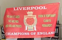 Liverpool Premier League 2020 Champions BIG FLAG....5ft x 3ft....150cm x 90cm.