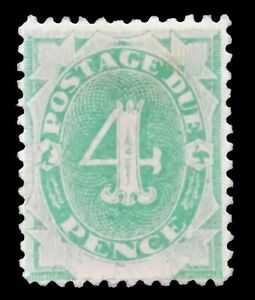 SGD5 - 1902 Emerald-green 4 Pence Postage Due Mint Stamp - CV $100 - 647a