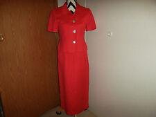 Jessica Howard size 6 petite pink/dark linen/rayon blend dress suit