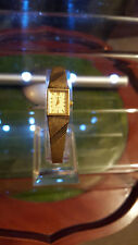 ladies vintage accurist gold dress watch,champagne color face lovely watch.#b1+.