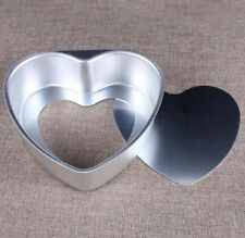 "Aluminium Heart Shaped Fondant Cake Biscuit Baking Mold Pan Tins 3"" Mold Gift S"
