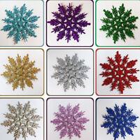 Christmas Tree Decorations Glitter Snowflakes Ornaments Xmas Party Home Decor