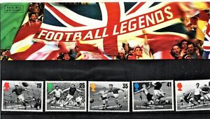 "1996 ""Football Legends"" Mint Stamp Set Presentation Pack"