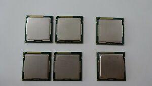Lot of 6 Mixed Intel processors 2nd gen, (4) i7, (2) i5, (2) i7 2600 3.4ghz