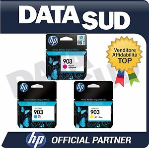 CARTUCCE HP 903 COLORI ORIGINALI C/M/Y INK-JET PER HP OfficeJet Pro 6950,6960..
